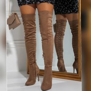 ❤Just In❤ Sexy Night out Boots over Knee toupe